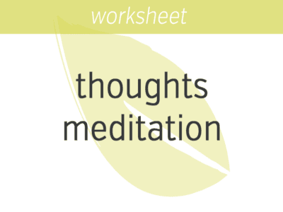 Awareness of Thoughts Meditation