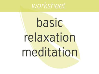 Basic Relaxation Meditation