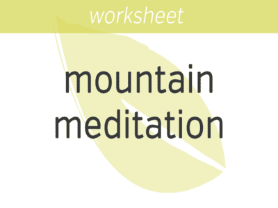 Mountain Meditation