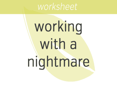 Working with a Nightmare