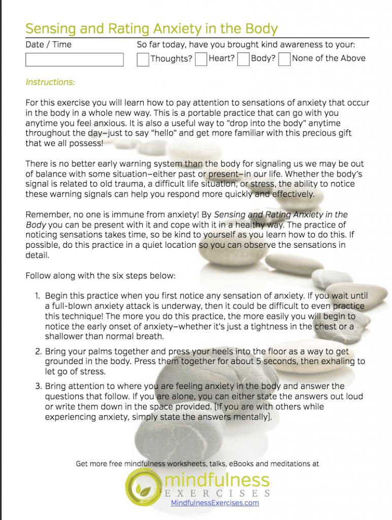 Mindfulness Worksheets Sample – Then Vs Than Worksheet