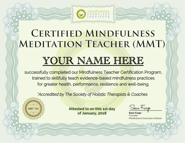 Mindfulness Teaching Certification Mindfulness Exercises