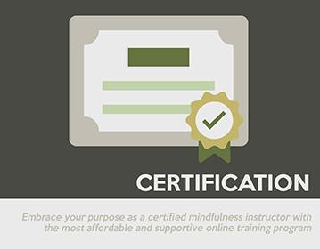 certify to teach mindfulness meditation