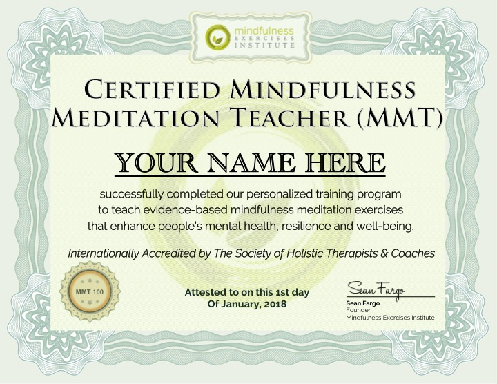 Mindfulness Teacher Training Certification Program I Accredited  Online