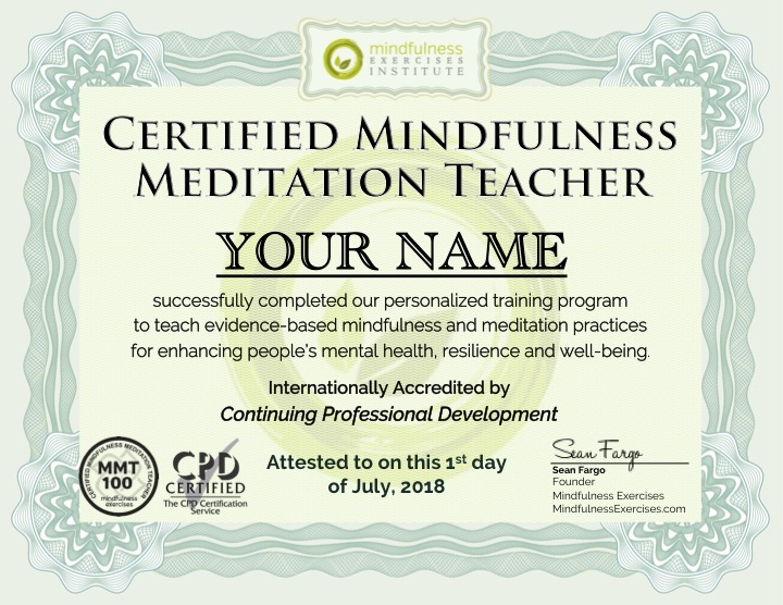 Mindfulness Teacher Training Certification Program I Accredited