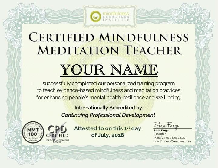 Mindfulness Teacher Training Certification Program I Accredited ...