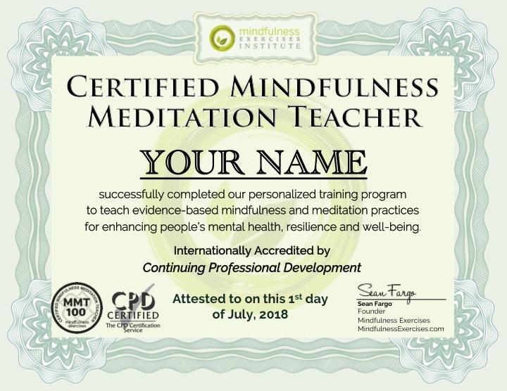 mindfulness teaching certification