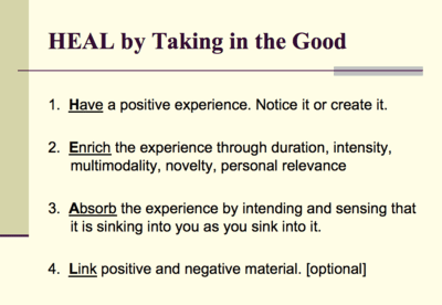 HEAL by Taking in the Good