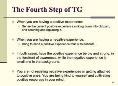 The Fourth Step of TG