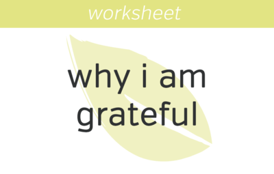 Why I Am Grateful