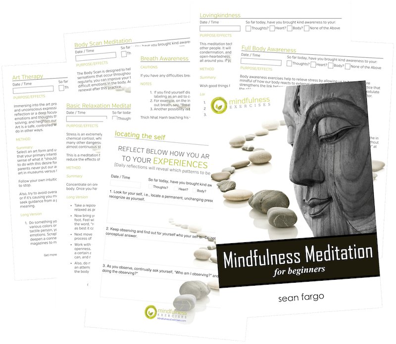 mindfulness worksheets for meditation