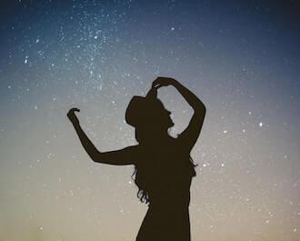 floating amongst the stars