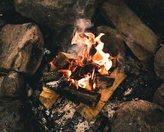 Log Fire Meditate Into Sleep