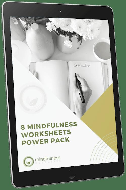 8 Mindfulness Worksheets Pack